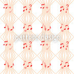 Ars Musica Seamless Vector Pattern Design