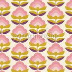 Retro Bonbon Blumen Nahtloses Muster