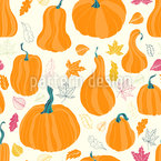 We Love Pumpkins Seamless Vector Pattern