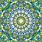 Мозаичные джунгли Бесшовный дизайн векторных узоров