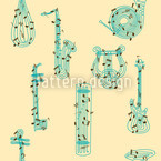 Music Seamless Vector Pattern Design