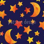 Gute Nacht Kleiner Stern Nahtloses Muster