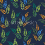 Darkness In The Jungle Vector Pattern