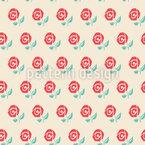 ローズ・バッド シームレスなベクトルパターン設計