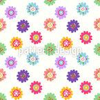 Girly Flowers Pattern Design