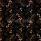 Twigs with Berries Vector Ornament