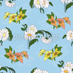 Meadow Flowers Seamless Vector Pattern Design