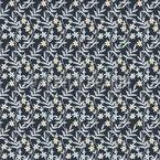 Blumige Wand Nahtloses Vektor Muster
