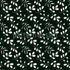 Mondschein Blätter Vektor Muster