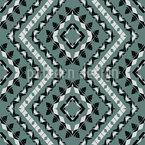 ジグザグに沿って角張り シームレスなベクトルパターン設計