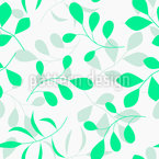 Modern Tender Leaves Vector Pattern
