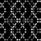Pontos em ziguezague abstratos Design de padrão vetorial sem costura