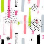Cute Brushstrokes Design Pattern