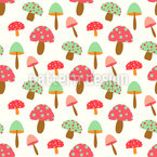 Baile Mushrooom Cuties Estampado Vectorial Sin Costura