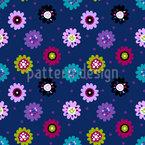 Retro Flower Circus Repeat Pattern