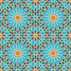Florales Mosaik Nahtloses Vektormuster