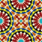 Mandala Mosaik Nahtloses Vektormuster
