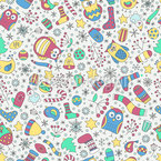 Colorful Christmas Seamless Vector Pattern Design