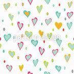 Lindo amor Estampado Vectorial Sin Costura