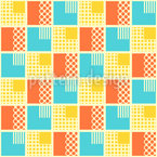 Geometrical Patchwork Seamless Vector Pattern