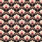 Blüten Palmette Nahtloses Vektormuster