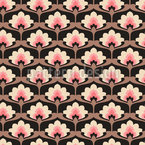 Flower Palmette Seamless Vector Pattern Design