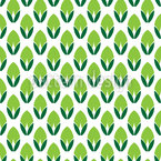 Stylized Buds Seamless Vector Pattern Design