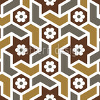 Marokkanische Blüten Mosaik Nahtloses Vektormuster