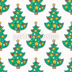 Doodle Christmas Tree Vector Ornament