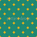 Flower Connection Seamless Vector Pattern Design