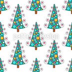 Winter Trees Vector Pattern