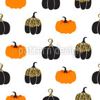 Decorative Pumpkins Repeat Pattern