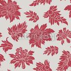Barock Blüte Rot Vektor Muster
