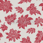Baroque Bloom Red Seamless Vector Pattern Design