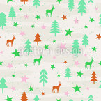 Weihnachts Wald Nahtloses Vektormuster