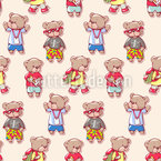 Teddy Bear Kids Pattern Design