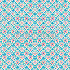 Floral Scales Seamless Vector Pattern
