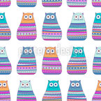 Cats In Sweaters Vector Pattern