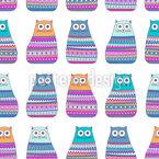 Katzen in Pullovern Vektor Muster
