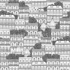 Georgian Houses Seamless Vector Pattern Design