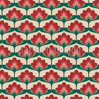 Vintage Palmette Repeating Pattern