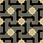 Blüten Labyrinth Nahtloses Vektormuster