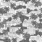 Caribbean Houses Seamless Pattern
