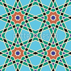 Moroccan Star Lattice Seamless Vector Pattern Design