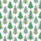 Doodle Weihnachtsbäume Vektor Muster
