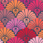 A Dream of Palmette Seamless Vector Pattern Design