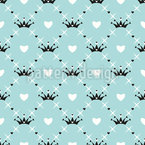 Dreamy Crown Seamless Vector Pattern Design