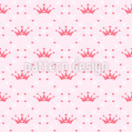 Cute Crown Seamless Vector Pattern Design