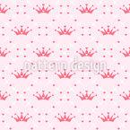 Süße Krone Nahtloses Vektormuster
