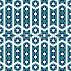 Marokkanischer Sternen-Tanz Nahtloses Vektormuster